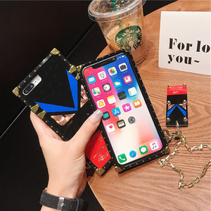 Designer fashion phone cases for iphone 11 Pro X XR XS Max 8 7 Plus Samsung S20 Ultra S10 S9 Note10 A50 A70 A51 A71 A20 s with the key chain