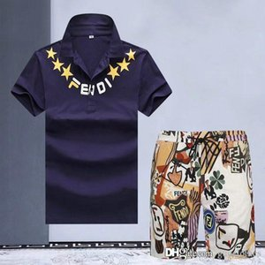 High Quality Summer mens tracksuit Sets medusa Men's Cotton mens designer tracksuits Sleeve T-Shirt Solid Color Large Size Casual Pants