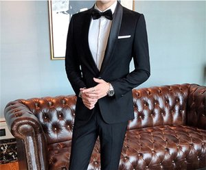 Classic Shawl Lapel tuxedos groom wedding men suits mens wedding suits tuxedo costumes de pour hommes men(Jacket+Pants+Tie) W64