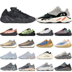 Adidas boost 700 V2 shoes Vente chaude 700 baskets Inertia Mauve designer mens chaussures unisexe femmes formateurs 700 solide gris Geode Static 36-45 Coureur Chaussures