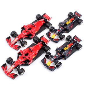 Çocuklar 1:43 Ölçekli Bburago Racer RB15 SF71H SF90 Kimi Raikkonen Charles Leclerc Sebastian Vettel Diecast Model Araç Araba Oyuncak 2019 Y200109