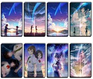 50pcs / lot Your Name Anime Stickers Kids Classic Toys Cartoon Tachibana Taki Miyamizu Mitsuha Movie Poster Souvenir Card Stickers SH190913