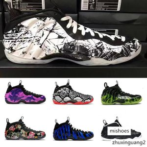 Halloween Foam One Penny Hardaway Basketball Shoes Paranorman Abalone Tiger DMP Camo Galaxy CNY Eggplant Sneakers Foams 1 Mens trainers 7-13