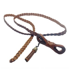 Creative weaving bowknot Butterfly clothing women's belt buckle PU Thin skin slim versatile clothing belt