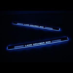 Per Toyota Land Cruiser 200 LC200 acrilico Moving LED Benvenuto Pedal Car piatto dello Scuff del davanzale del portello del pedale Pathway Luce