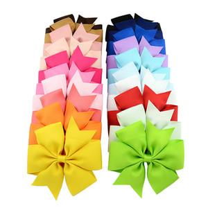 20 pçs / lote Recém Projeto 4.5 '' Boutique Arco de Cabelo Com Clipe Big Bow Grampos Grampos de Cabelo Crianças Acessórios Para o Cabelo 624