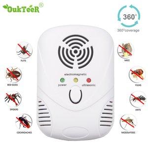 Multi-função Ultrasonic assassino Lâmpadas Pest Controle Eletrônico Pest Repeller Mosquito repelente de insetos assassino de insetos ratos Aranha