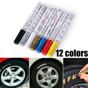 2020 Краска Маркер универсальный белый автомобиль Мотоцикл Whatproof Постоянная шин протектора Rubber Paint Marker Pen 5 цветов EEA258
