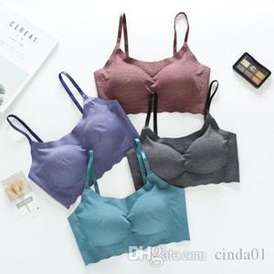 Casual Seamless One Piece Push up Tank Top Women Sleepwear Bra Wireless Comfortable Top Basic Wear Inside