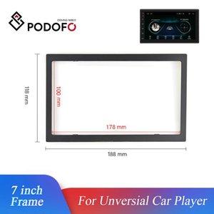 Podofo 2 автомобильный радиоприемник рамка DIN 7-дюймовый сигнал unversial-плеер автомобиля рама мультимедийный плеер пластиковых рамок