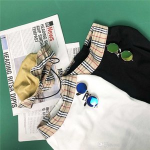 Son Ekose Desen Pet Polos Gömlek Yaz Sokak Stili Pet T-shirt Festivali Kişilik Şapkasız Charm Chai Keji Köpek Giyim