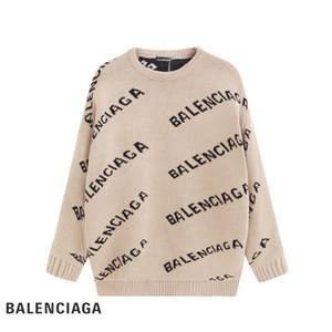 Femininos 20ss malha pulôveres Designer Sweater Homens O pescoço tricô Casual Camisolas Camisolas longa dos homens Pullovers famosa marca camisola das mulheres