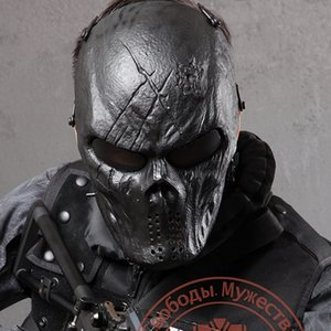 Dieu Airsoft Crâne noir Protection masque facial pour l'extérieur Wargame Tactical Gear CS War SH190922