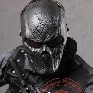 Schwarz Gott Airsoft Paintball-Schädel Vollgesichtsschutz Masken für Outdoor-Kriegsspiel Tactical Gang CS War SH190922