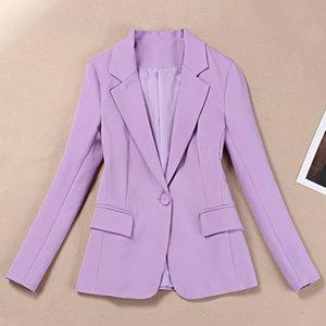 Small suit suit female temperament purple suit autumn professional Korean Slim women's jacket 2019