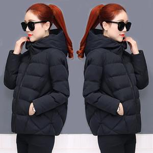 2019 New Arrival korean Women Winter Coat Puffer Black Warm Thick Winter Jacket Padded Hooded Short Bubble Coat Slim