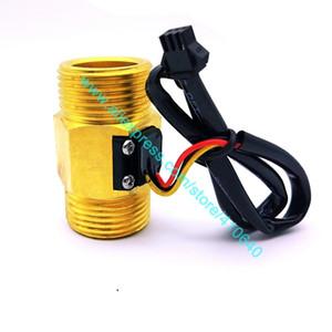 """G1"""" completa Cobre Tamaño DN25 4 a 45 L / min pulsos de velocidad del flujo de agua sensor Hall inductivo interruptor medidor de flujo de la fábrica de la buena calidad"""