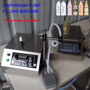 3-5000ML una sola boquilla Bomba de diafragma pequeña botella de relleno del jugo semiautomático de tinta Perfume Aceite Bebidas Vial líquido de relleno Máquina