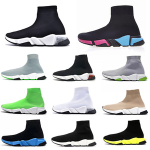 24-48h expédier chaussures balenciaga Chaussette De Luxe Speed Trainer Running Baskets Chaussette Race Runner noir Paris femmes hommes Chaussette de sport Chaussures formateur