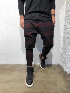 Designer Sport pantaloni lunghi Moda Mid vita libera con coulisse Abbigliamento Uomo Plaid 3D Digital Print Mens Pants