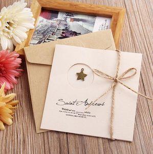Рождество Thanksgivinng поздравительных открыток 10 образцов DIY ручной работы ретро кромкогибочный поздравительная открытка на день рождения партии Wedding Card