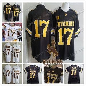NCAA Wyoming Cowboys # 17 Josh Allen Braun Weiß Männer Jugend Kind Frauen Adult Jersey Coffee Günstige College Football Stitcehd No Name S-3XL