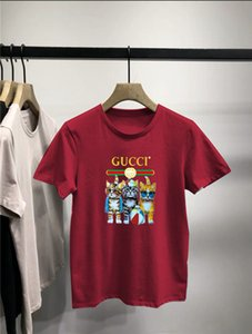 Gu̴cci mens designer t shirts Clothing Summer Tee Cool Short Sleeved Crew Neck Tees Man Women White Black Tops