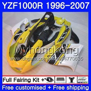 Karosserie für YAMAHA Thunderace YZF1000R 96 97 98 99 00 01 238HM.19 YZF-1000R YZF 1000R 1996 1997 1998 1999 2000 2001 Gelb-Weiß-Kit