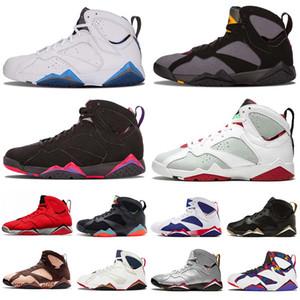 Mode air jordan retro 7 Jumpman 7 hommes GMP 7s A9 Olymipc Bleu Reflètent A chaussures de basket-ball hommes Champion Ray Allen Fadeaway Patta chaussures de marque X