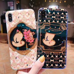 The latest resin coating soft and comfortable retro classic American cartoon mouse iPhone X S R 7 8 plus 11 pro MAX mobile phone case