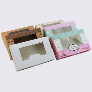 3 formati 20 pezzi scatola per torta in carta Kraft Scatola per imballaggio Scatola per caramelle / Biscotti / Sapone / Biscotti / Cupcake Scatola per imballaggio bianca