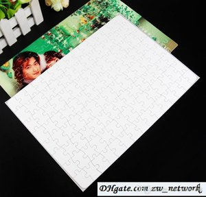 HOT A4 Blank Sublimation Jigsaw Puzzle 120 Pieces Heat Press Thermal Transfer Crafts DIY White Puzzles for sublimation photo printing