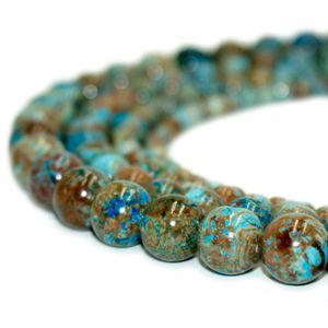 Pietra naturale Crazy Blue Pizzo Agata Perle rotonde Pietre preziose Perline sciolte per Bracciale FAI DA TE Gioielli Fare 1 Strand 15 pollici 4-10 mm