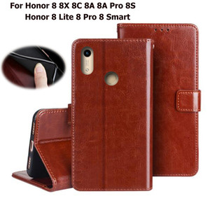 Wallet Case For Huawei Honor 8 8X 8C 8A 8S Pro Lite Smart Flip PU Leather Phone Cover Stand Huawei Honor 8 X C A S Pro Lite Bags
