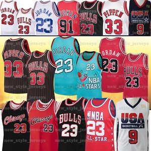 Bull 23 NCAA Michael North Carolina Scottie Pippen 33 Jersey Dennis Rodman 91 Bull College Basketball Jersey