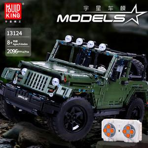 Technic Serisi 13124 2096pcs MOC RC cipler Wrangler Macera Off-road araç Modeli Yapı Taşları Tuğla 20090 Oyuncak DIY hediyeler