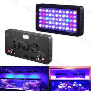 Luces de acuario Full Spectrum Grow Lights 165W 55 LED Dimmable con lente para el tanque de peces Marine Aquarium Decoración profesional DHL