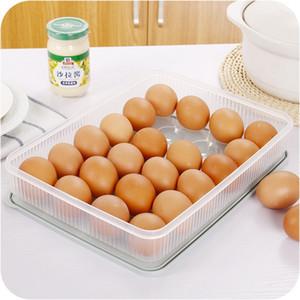 24 Suportes grelhas de plástico caixas de ovos de casos Ferramentas de armazenamento refrigerador do alimento fresco Box cozinha portátil Picnic Egg Organizador Container DBC BH3755