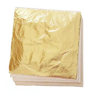 10PCS 9.33x9.33cm 미술 공예 종이 모조 금 은색 구리 잎은 금도금 DIY 공예 장식 시트 포일 종이 잎