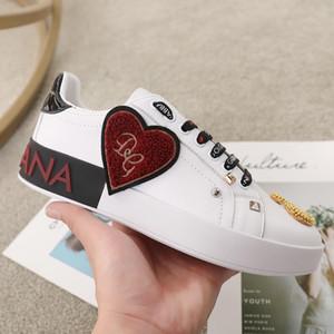 Dolce&Gabbana 2019S begrenzt Top-Luxus-Designer Männer und Frauen Leder Freizeitschuhe hohe Qualität Paar Schuhe Mode wilde Sportschuh Größe: 35-45