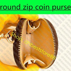 ROUND ZIP CONIA titolare della carta chiave di fascino Zippy mini sacchetto dell'organizzatore del progettista delle donne Cle raccoglitore del sacchetto Multi-Pochette Accessoires M44840
