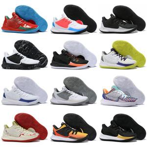 Yüksek kaliteli Mens Kyrie2 2s Spor Sneakers Size40-47 İçin Yeni Kyrie Düşük 2 Black Gold Beyaz Sarı Mor Buz Mavi Alt Basketbol Ayakkabı
