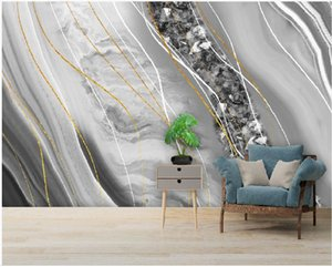 Custom 3d wallpapers Modern light luxury abstract crystal marble wallpapers background wall