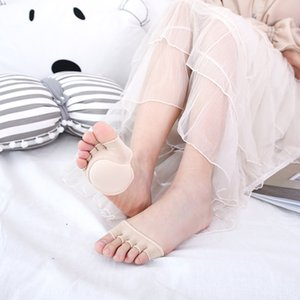 2019 summer toe women's cotton half-foot five-finger socks with cushion anti-slip can match summer shoes invisible five-toe socks