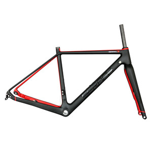 Tantan 초경량 자갈 자전거 프레임 차축을 통과 142 * 12 142 * 15 디스크 브레이크 탄소 자전거 프레임 모든 크기의 재고 있음