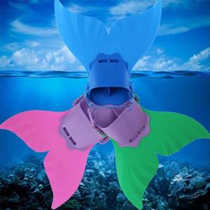 200PCS Adjustable Mermaid Swim Fin Diving Monofin Swimming Foot Flipper Mono Fin Fish Tail Swim Training For Kid Children Christmas Gifts