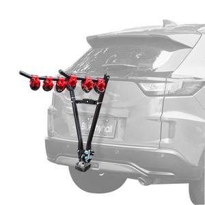 V-образная железная велосипедная стойка 3-Bike Hitch Mount Car Racks Mountain Bike Carrier для путешествий Зоотовары