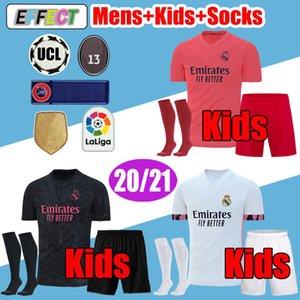 Camisetas  Real Madrid Soccer Jerseys 19 20 REINIE MODERNO DE PELIGRO Camiseta 2019 2020 BALE ISCO EA Sports Fourth Jerseys Camiseta de fútbol Kids RODRYGO Calcetines para niños