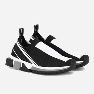 DOLCE&GABBANA Moda de luxo Sapatilha Sorrento mens Designer sapatos Tecido Stretch Jersey Slip-on Sneaker Lady Two-tone de Borracha Micro Sole Sapatos Casuais 12
