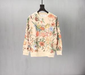 Gucci Long sleeve top Tişörtü Pamuk Gevşek Sweatshirt Erkekler Grup Yaka Triko Çiçek tenis raketi İşlemeli Çift xshfbcl Tops yazdır